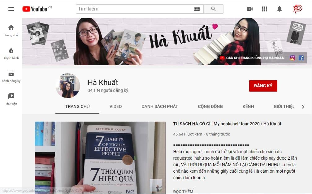 Review sách từ kênh youtbe