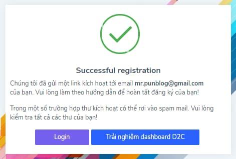 Kiểm tra email kích hoạt tài khoản accesstrade