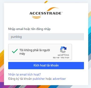 Kích hoạt accesstrade