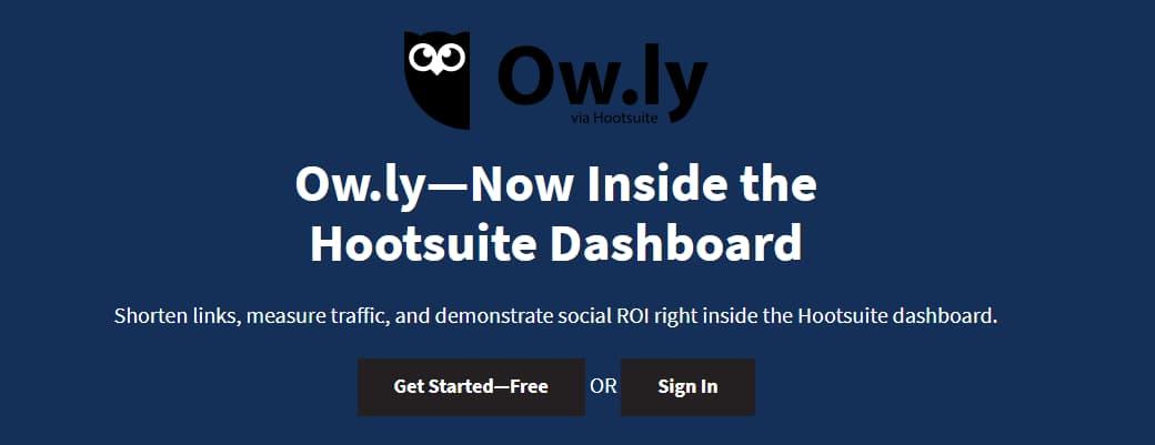 Rút gọn url với ow.ly