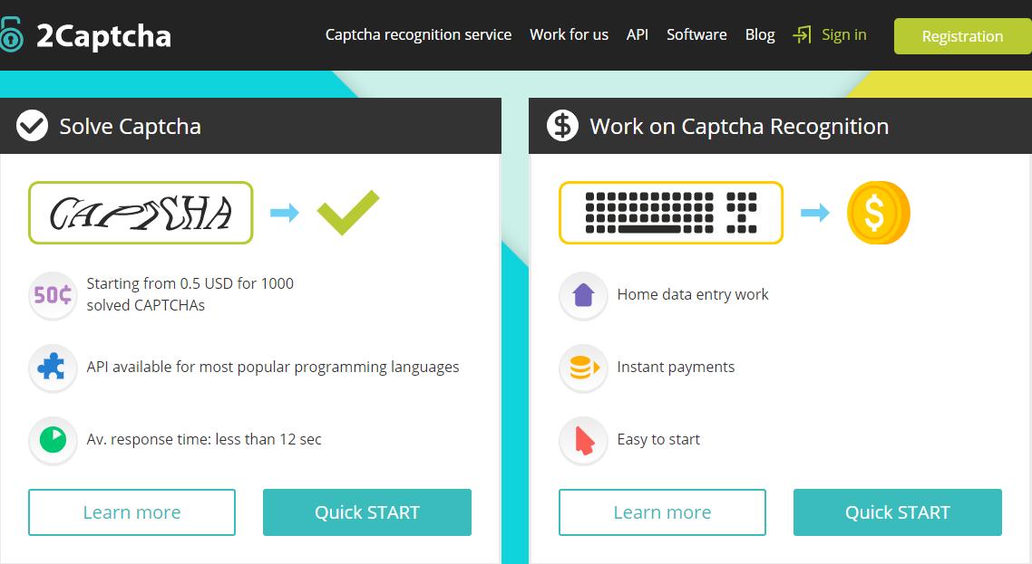Đăng ký tài khoản 2Captcha